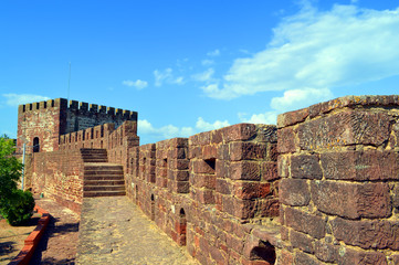 Silves castle walls  in the Algarve, Portugal
