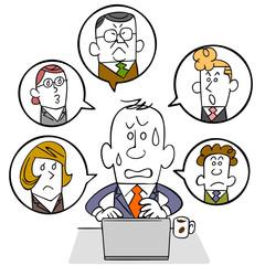 ビジネスマンとソーシャルネットワーク
