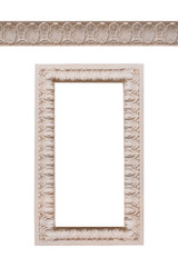 beautiful frame and ornament bas-relief on a white background