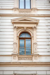 window with beautiful architecture modeling and columns