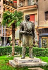 Statue of Cretan Macedonian-Fighter in Thessaloniki - Greece