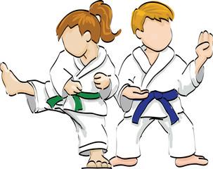 Two kids karate