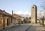 Ottoman clock tower in Podgorica. Montenegro poster