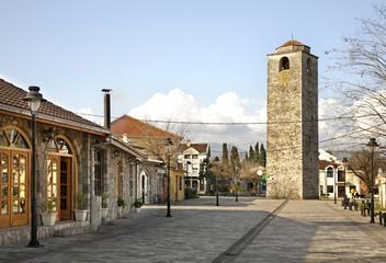 Ottoman clock tower in Podgorica. Montenegro