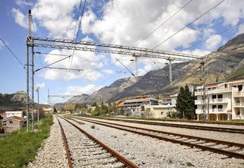 Railway in Sutomore. Montenegro