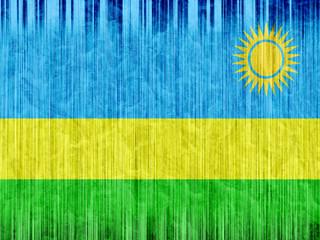 Rwanda flag paper texture