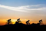 Fototapety Cycling at mountain