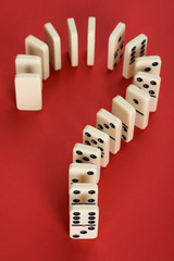 Question Mark Made From Domino