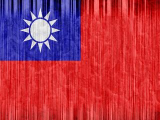 Taiwan flag paper texture