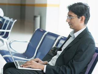 Indian businessman at airport