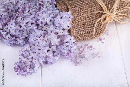 Deurstickers Lilac Flowering bunch of lilac.
