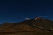 Leinwanddruck Bild - Teide Volcano by night on Tenerife