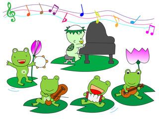 蛙の演奏会