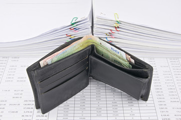 Wallet full of bills