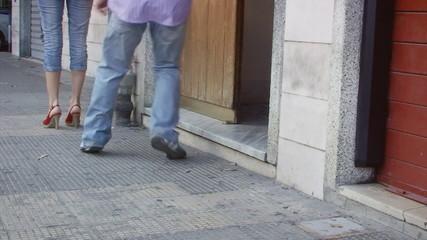 Feet lifestyle stalker surprised
