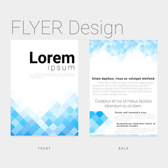 Newsletter template in a modern style for business and companies