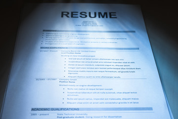 Close-up Of Resume