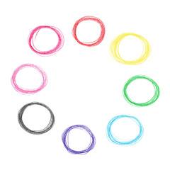 Colorful pencil circles set