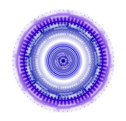 Abstract round tech background