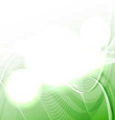 Soft green wave background