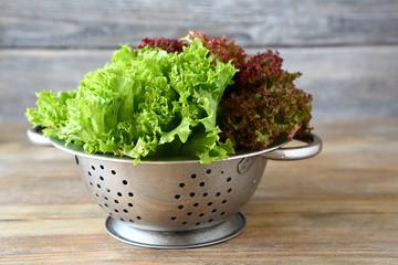 Healthy salad in a colander