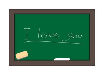 CHALKBOARD I LOVE YOU FOR VALENTINES DAY.