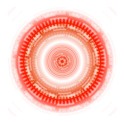 Circle red background