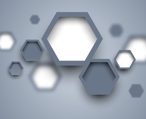 Abstract science gray background