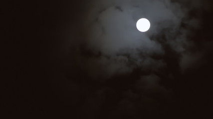 Full moon clouds slow