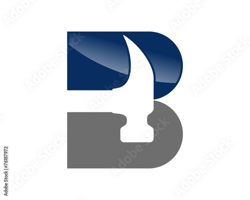 "Letter - Hammer Logo"" Stock image and royalty-free vector files on ..."