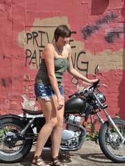 Biker gal.