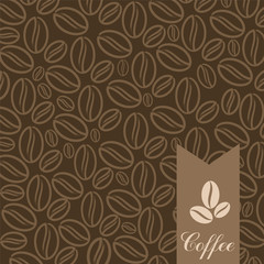 Vector background with coffee grains