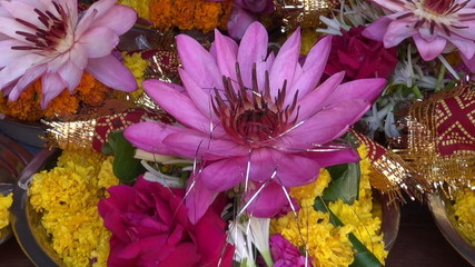 hinduism ritual religion lotus and other flowers