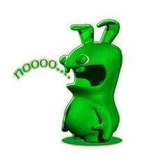 pupazzo verde