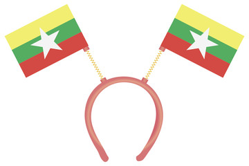 Witty headdress flags Burma