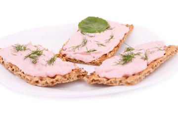 Cracker with fresh cream