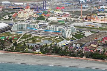 Sochi cityscape, top view