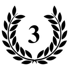 Lauriers 3 sur fond blanc