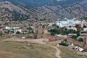 Genoese fortress, Sudak city, republic Crimea