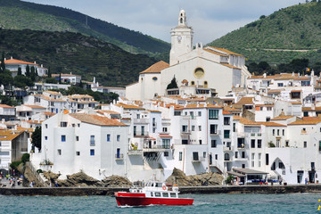Seaside city of famous touristic city Cadaques, Catalonia