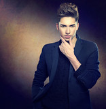 Fashion young model man portrait. Handsome guy - 76190373