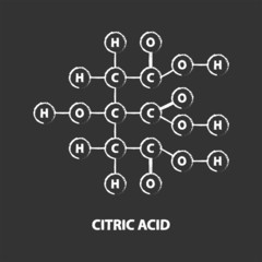Chemical Formula Of Citric Acid On Blackboard