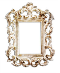 antique victorian style frame. isolated on white