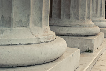 Base of marble columns
