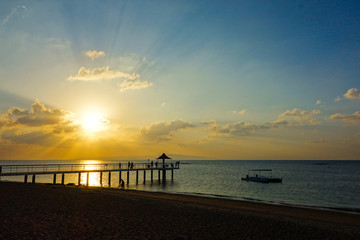 沖縄県 石垣島 フサキビーチの夕日