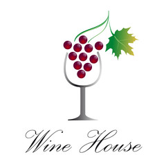 Vector sign red wine
