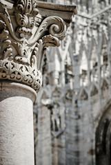 Architecture in Piazza Duomo , Milan