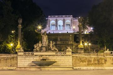 Statues On Piazza Del Popolo, Rome