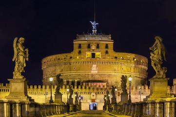 Ponte and castel Sant'Angelo, Rome