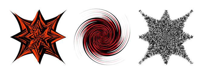 Black and Red hypnotic background.